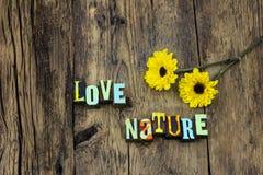Environnement naturel de la terre de nature d'amour protéger l'écosystème photographie stock