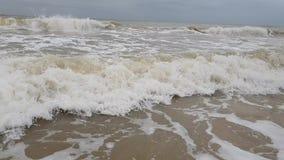 Environnement naturel puissant d'avertissement froid de jet d'accident de mouvement lent de tempête de vague de ‹d'†de ‹d'†de banque de vidéos