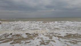 Environnement naturel puissant de jet d'accident de mouvement lent de tempête de vague de ‹d'†de ‹d'†de mer ambiant banque de vidéos