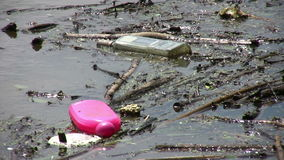 Environnement pollué Image stock