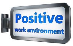 Environnement positif de travail sur le panneau d'affichage illustration libre de droits