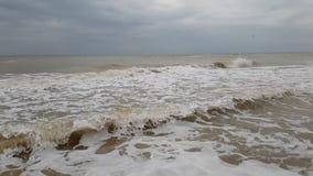 Environnement puissant de jet d'accident de mouvement lent de tempête de vague de ‹d'†de ‹d'†de mer ambiant banque de vidéos