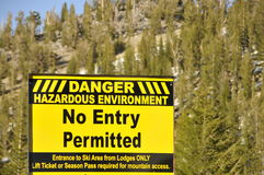 Environnement risqué photographie stock