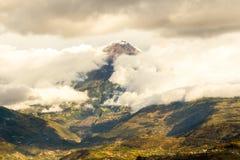 Environnements de volcan de Tungurahua Photos libres de droits