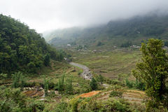 Environs of vietnamese village. View of village in North Vietnam royalty free stock photo