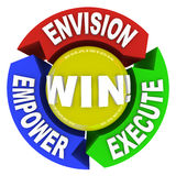 Envision Empower Execute - Win Royalty Free Stock Photos