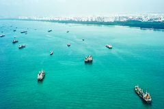Envío en Singapur Foto de archivo