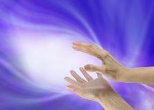 Envoi de l'énergie curative Photos libres de droits