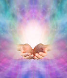 Envoi de l'énergie curative divine Photos stock