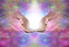 Envoi de l'énergie curative sacrée Photo libre de droits