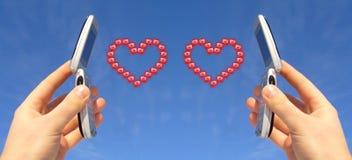 Envoi de l'amour Image stock
