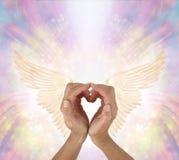 Envoi de l'amour et de la gratitude à votre ange gardien Photographie stock libre de droits