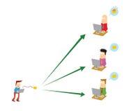 Envoi de l'email aux gens Image libre de droits