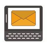 Envoi de l'email du smartphone illustration libre de droits