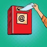 Envoi de la boîte de réception de papier de lettres illustration libre de droits