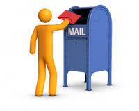 Envoi de la lettre illustration stock