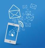 Envoi de SMS illustration libre de droits