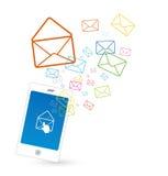 Envoi de SMS illustration de vecteur