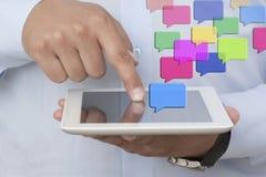 Envoi des messages Image libre de droits