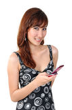 Envoi du message avec texte photographie stock libre de droits