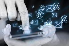 Envoi par courrier électronique Photos stock