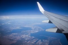 envolez-vous, vue d'avion, la Côte d'Azur, le d& x27 de CÃ'te ; Azur Images libres de droits