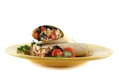 Envoltório 2 da salada da galinha Imagem de Stock