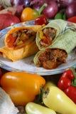 Envoltório da carne e do vegetal Foto de Stock Royalty Free