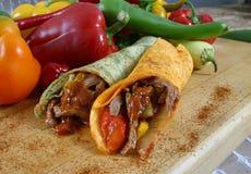 Envoltório da carne e do vegetal Foto de Stock