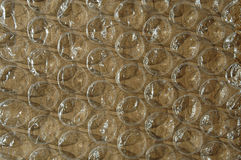 Envoltório de bolha grande - marrom Fotos de Stock