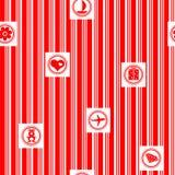 Envoltório de presente vermelho ilustração royalty free