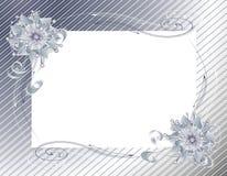 Envoltório do Natal e frame de prata da curva Fotografia de Stock