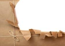 Envoltório do pacote da caixa Imagens de Stock