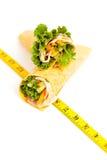 Rolos envolvidos do sanduíche da tortilha Imagens de Stock