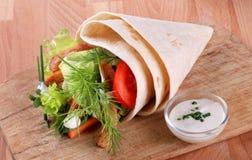 Envoltório do Tortilla fotografia de stock royalty free
