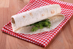 Envoltório do Tortilla Imagem de Stock Royalty Free