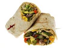 Envoltório do vegetariano fotos de stock