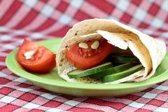 Envoltório do vegetariano Imagens de Stock Royalty Free