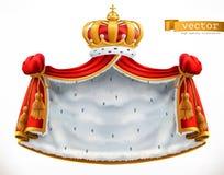 Envoltório e coroa reais ícone do vetor 3d ilustração stock