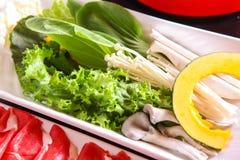 Envoltório vegetal no prato fotografia de stock royalty free