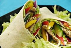 Envoltórios da salada de galinha Imagem de Stock