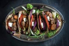 Envoltórios da tortilha com carne à terra Foto de Stock Royalty Free