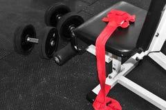 Envoltórios do pulso no gym Imagem de Stock