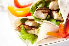 Envoltórios do Tortilla Fotografia de Stock