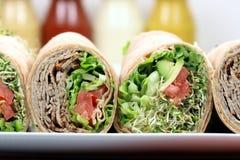 Envoltórios orgânicos do sanduíche foto de stock royalty free