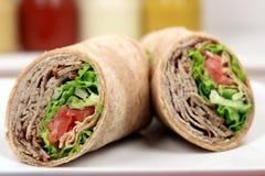 Envoltórios orgânicos do sanduíche Imagens de Stock