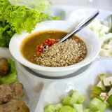 Envoltórios vietnamianos da almôndega (Nam Neung) Imagem de Stock