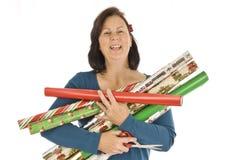 Envoltura alegre del regalo Imagen de archivo libre de regalías