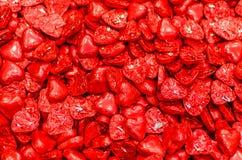 Envoltura roja del caramelo del hocolate del ¡de Ð en forma de corazón Imagen de archivo libre de regalías