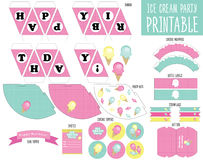 Envolturas de la magdalena Partido del helado Imagen de archivo